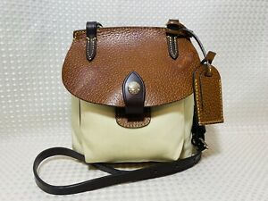 Dooney Bourke Crossbody Saddle Bag Leather Trim Alto Flap Small Travel Outdoor