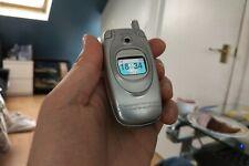 PROTOTYPE Samsung SGH E600 Silver (Unlocked) Mobile Phone flip phone working