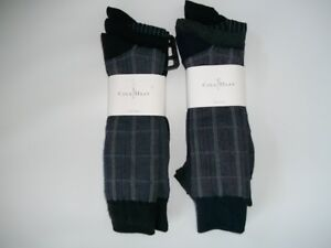 COLE HAAN 6 Pair Pattern & Solid Classic DRESS SOCKS Mens Shoe Size 7 - 12 NEW