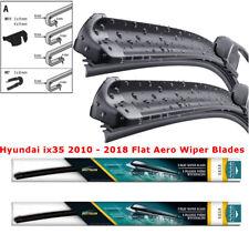 "Hyundai ix35 2010 2011 2012 2013 2014 Front Pair Flat Aero Wiper Blades 24"" 16"""
