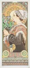 Alphonse Mucha Thistle From the Sands Limited Edition Lithograph COA S2 Art