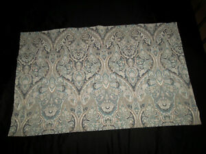 Pottery Barn Mackenna King Sham Paisley Blue Brown Medallion Percale