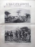 L'illustrazione Italiana 11 Aprile 1897 Croce Rossa Leone Fortis XX Legislatura