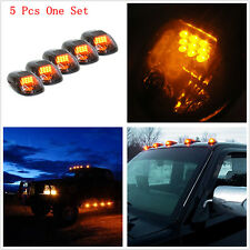Car SUV Off Road 4X4 RV Amber LED Cab Roof Top Light Marker Running Lamps Smoked