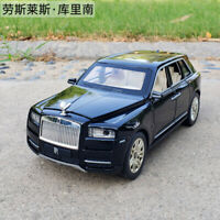 Rolls Royce Cullinan 1:/24 Diecast Alloy Sound&Light Pull Back Car Model Toy