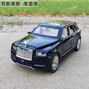 Sound&Light Pull Back Car Model Toy 1:/24 Rolls Royce Cullinan  Diecast Alloy