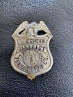 Vintage Rare American District Telegraph Co Badge # 6 ADT Alarm Co