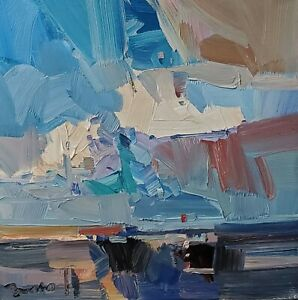 JOSE TRUJILLO Oil Painting IMPRESSIONISM Contemporary COLLECTIBLE CLOUDS SKY