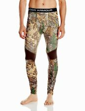 MENS UNDER ARMOUR UA COLDGEAR INFRARED SCENT CONTROL HUNTING CAMO LEGGINGS $75