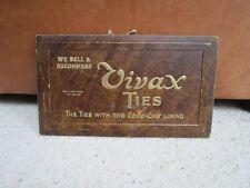 Original Advertising sign for Vivax ties, Card advert sign