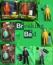 "Breaking Bad WALTER WHITE JESSE PINKMAN HEISENBERG Set of EIGHT (8) Mezco 6"""