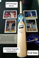 Michael Clarke Autographed Full Size Cricket Bat with Photos And Plaque C.O.A.