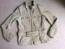 New look suede leather beige jacket size 12
