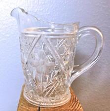 "Vintage Pressed Glass Daisy  Creamer 5"""