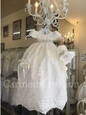 Handmade BEAUTIFUL CarmenCreations Baptism Gown Baby Girl Christening Dress 9 Mo