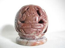 RAR Jade China Buddhismus Kerzenleuchter handgeschnitzt