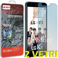 """2 Pz Pellicola Vetro Temperato Per LG K11 LMX410EO Protezione Schermo LCD 5,3"""""""