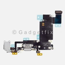 """Charger Charging Port Earpiece Mic Flex Cable For iPhone 6S Plus 5.5"""" Light Gray"""