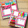 BIRTHDAY GIRL 2 premade scrapbook pages paper piecing layout 4 album ~ digiscrap