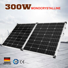300W Folding Solar Panel Kit 12V Caravan Camping Power Mono Charging 300Watt