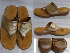 NATURAL SOUL by Naturalizer Chutney Women's Beige/Gold Thong Sandals Shoes 9.5M