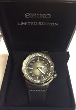 SEIKO Men's PROSPEX Limited Edition Compass Bezel Leather Automatic WATCH SRP579