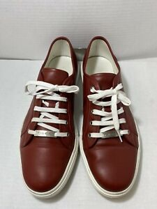 GUCCI 423301 Low Top Sneakers MIRO'SOFT Red Leather -MEN 12
