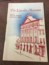 1949 The Lincoln Museum Brochure/Booklet National Park Service
