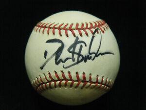 Dion Sanders Pro & College Football HOF autographed NL White baseball