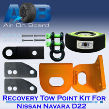 Recovery Tow Points Kit for Nissan Navara D22 WITH BRIDLE + SHACKLES + HITCH