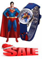 Kids Watch SuperMan Fashion Boys Watches Spider Man Wristwatch gift