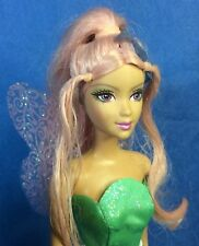 OOB Barbie Doll FAIRYTOPIA Winged PINK HAIR FAIRY Shoes Painted Legs