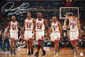 Dennis Rodman Autographed Chicago Bulls Jordan Pippen 16x24 Photo ASI Proof