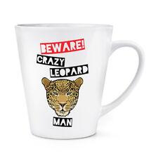Beware Pazzo Uomo Leopardo 341ml Latte Tazza - Divertente Animale
