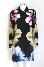 Equipment Black Kerry Silk Flower Print Shirt Dress S