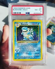 PSA 8 Blastoise Holo 2/102 Base Set Pokemon Card | 1999 WOTC