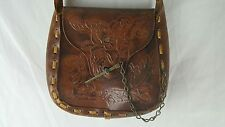 Handmade Leather Purse Handbag Vintage One Of A Kind Very Unique Shoulder Strap