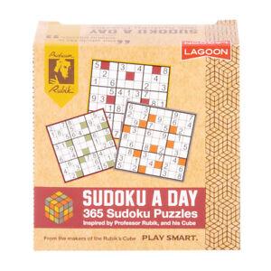 Lagoon Rubik Kids/Adults 365 Sudoku A Day Book Brain Teaser 11cm Desk Block