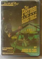 THE POSTMAN ALWAYS RINGS TWICE James M. Cain AUDIOBOOK 2-Cassette Tape Set RARE