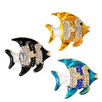 Rhinestones Nautical Fish Brooch Pin Wedding Party Clothing Wedding Jewelry