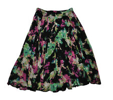 ** Whistles ** Floral Pleated Skirt ** UK 8 ** Black / Pink **