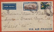 Lettre/Cover Brasil Air FRANCE, Brésil pour Paris 1937
