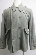 buckle black label mens gray cotton wool double breasted blazer coat slim fit