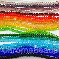 Faceted Rondelle / Abacus crystal glass beads strand 3x2 4x3 6x4 8x6 10x8 12x9mm