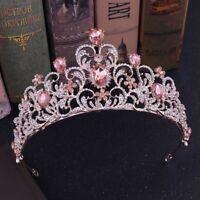 Crystal Tiara Pageants Headband Wedding Bride Hair Rhinestone Bridal Queen Crown