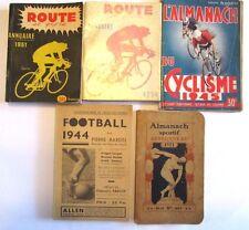 """Rare """"L'ALMANACH DU CYCLISME 1945"""" Ce Soir/Sprint Editions  140 pages"""
