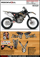 ROCKWELL Motocross Graphics KTM EXC 2005-2007 DIRT BIKE GRAPHICS BY ENJOY MFG
