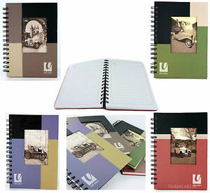A5 VINTAGE STYLE NOTEBOOK HARDBACK NOTEBOOK RING BOUND OLD TIME BRAND NEW