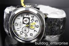 Mens Invicta Aviator Polar Chronograph Stressed Leather Watch MSRP $1995 New