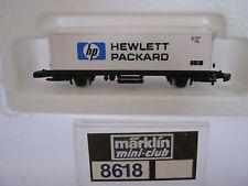 Märklin Mini Club Z 8618 Container Tragwagen Hewlett Packard DB (RG/AO/11S4)